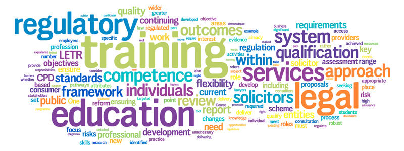 This is an image of a word cloud generated from the T4T policy statement