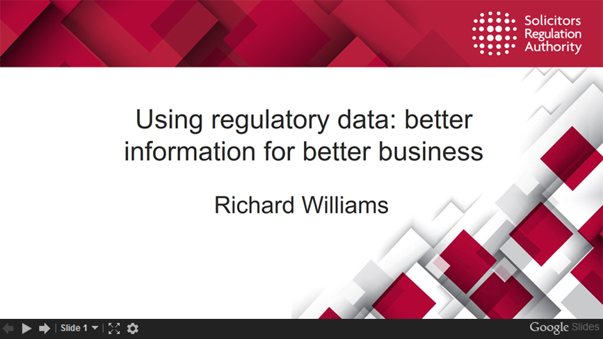 Powerpoint Using regulatory data: better information for better business slides